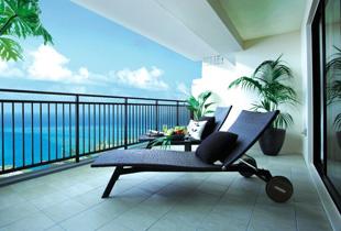 從客房露臺眺望的海景景觀